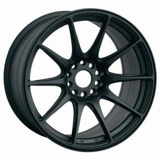 18 XXR 527 Flat Black Rims Wheels 18x8 75 20 5x100