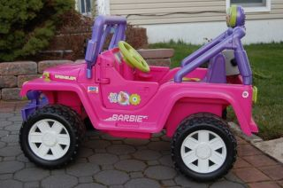 Barbie Jammin Jeep Wrangler Power Wheels Pick Up Only