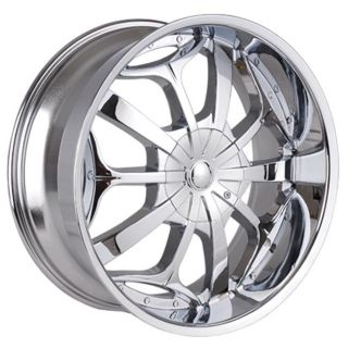 24 inch Chrome 701 s Rims Wheels Tahoe Escalade Denali