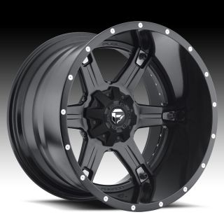 Driller 2pc Wheel Set Black 20x9 Rims Ford Chevy Dodge Wheels