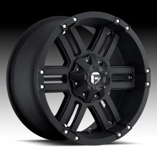 FUEL WHEELS 20 X 9 GAUGE BLACK CHEVY SILVERADO GMC SIERRA 2500HD DODGE