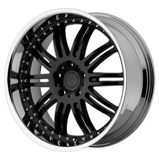KM127 DIME KM12722963538 22X9 5 38MM OFFSET 6X135 GLOSS BLACK MACH RIM