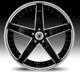 22 asanti AF166 Black Chrome Wheels Rims 3 Piece