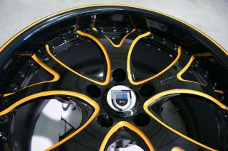 143 Lambo Black Orange Wheels Rims 3 Piece Lamborghini Gallardo