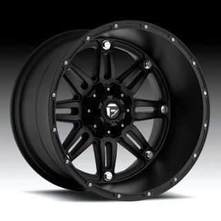 Hostage Wheel Set XD Black 22x11 Rims Matte Black 22 inch Fuel