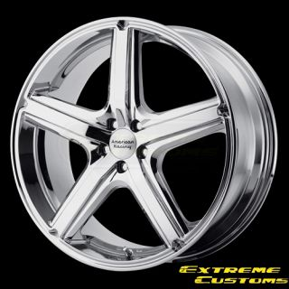 x7 American Racing AR883 Maverick Chrome 5 Lug Wheels Rims FREE LUGS