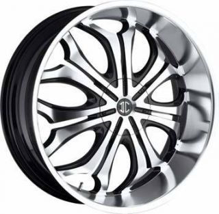 5x114 3 5x127 ET18 Black Machined Chrome Lip Wheel 1 New Rim