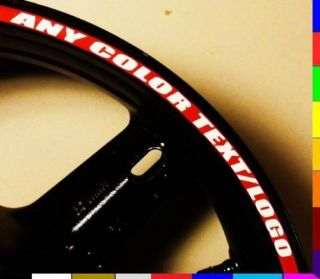 Custom Printed Motorcycle Rim Stripes Wheel Tape Decals