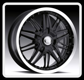 17 Vision 381 5x115 Impala Monte Carlo Charger Black Wheels Rims Free