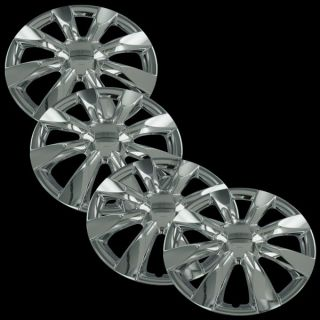 New 15 Chrome Hubcaps Center Hub Caps Wheel Rim Covers