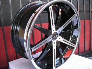 22 Blaque Diamond Rim BD10 Rim Tire Hipnotic Mercedes BMW asanti Dub