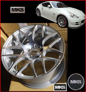 20x8 5J 10J 5x114 3 Staggered Concave Wheels Infinity G35 Coupe Nissan