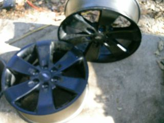 20 inch Wheel Rim OEM alum 6 lug ford w center cap black finish 2006