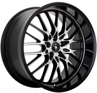 15 Konig Lace Rims Wheels Black 5x100 5x114 3 Civic XB