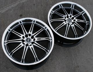 RVM 395 17 Black Rims Wheels Chevrolet Cobalt GM