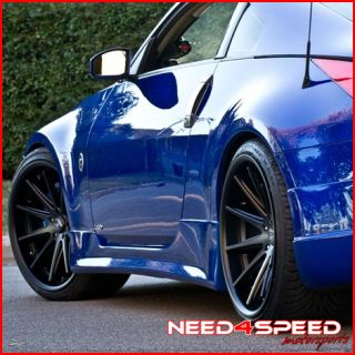 20 NISSAN 350Z ROHANA RC10 BLACK DEEP CONCAVE STAGGERED WHEELS RIMS