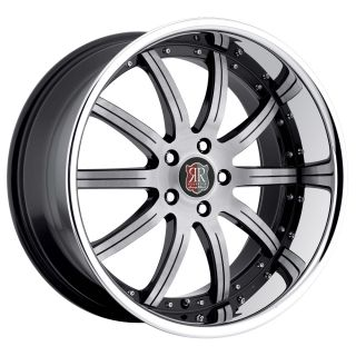 19 MRR RW3 Black Chrome Wheels Rims Fit Lexus ES GS LS RX SC300 sc400