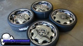 Forgiato Fiore 22 Chrome Staggered Wheels Nexen N3000 Tires Lexus