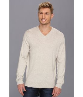 Nautica 12 Gauge V Neck Sweater Mens Clothing (Beige)
