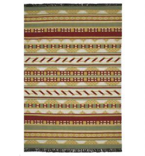 Hand woven Clanto Flat Weave Wool Rug (8 X 106)