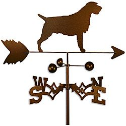 Handmade Wirehaired Pointing Griffon Dog Copper Weathervane (CoppervienTheme Wirehaired pointing griffon dog  Materials SteelMount options Roof, garden, flat, sideWeatherproof Garden dimensions 60 inches x 21 inches x 21 inches Roof, flat, side dimens