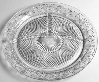 Indiana Glass Daisy Clear Grill Plate   Clear, Depression Glass
