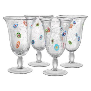 Artland Inc. Fiore Footed Glasses   Set of 4 Multicolor   14405A