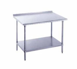 Advance Tabco 36 Work Table   Raised Rear Edge, 30 W, 14 ga 304 Stainless