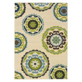 Samantha Medallion Indoor/Outdoor Accent Rug (37x56)
