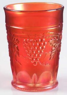 Northwood Grape & Cable Marigold 8 Oz Flat Tumbler   Marigold Carnival Glass