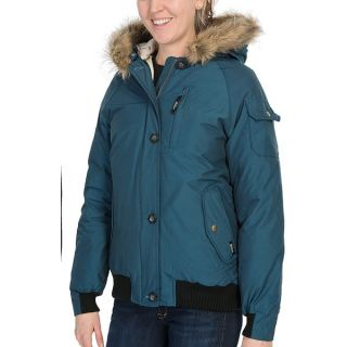 Woolrich Arctic Down Jacket   550 Fill Power  Removable Faux Fur Trim (For Women)   RUBY (XL )