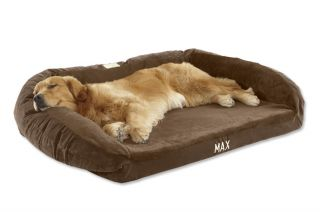 Faux fur Deep Dish Dog Bed With Memory Foam / Xsmall Dogs/Cats Up To 15 Lbs., Chocolate