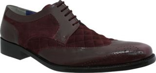 Mens Giorgio Brutini 21080   Wine Buff Leather/Suede Wing Tips