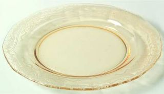 Fostoria June Topaz/Yellow Luncheon Plate   Stem #5098, Etch #279, Yellow