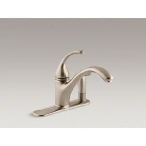 Kohler K 10413 BV Forte Single Handle Kitchen Faucet with Sidespray