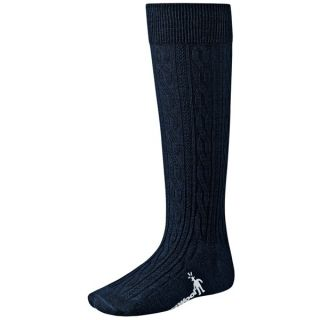SmartWool Cable Knee High Socks   Merino Wool  Lightweight (For Kids and Youth)   BLACK (S )