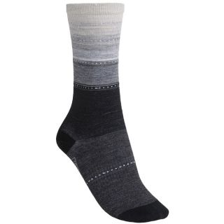 SmartWool Sulawesi Stripe Socks   Lightweight  Merino Wool (For Men and Women)   CHARCOAL (M )
