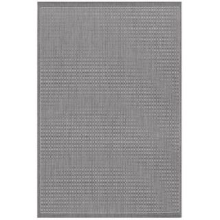 Couristan Recife Saddle Stitch Grey/White Rug 1001/3012 Rug Size Runner 23
