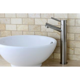 Satin nickel Single handle Faucet And Vitreous china Sink