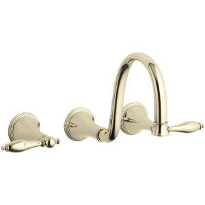 Kohler K T343 4M AF Finial Traditional Two Handle Lavatory Faucet Trim