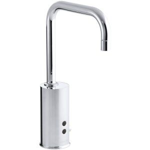 Kohler K 13472 CP Universal Gooseneck Touchless Deck Mount Faucet with Temperatu