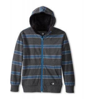 Rip Curl Kids Dawn Patrol Lines Fleece Hoodie Boys Sweatshirt (Gray)