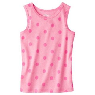 Circo Infant Toddler Girls Ribbed Polka Dot Tank Top   Dazzle Pink 4T