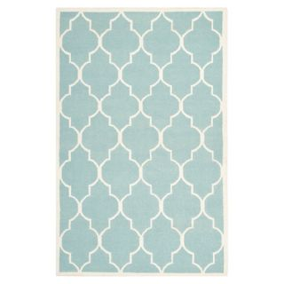 Safavieh Dhurries Light Blue/Ivory Rug DHU632C Rug Size 4 x 6