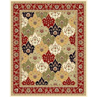 Lyndhurst Collection Multicolor/ Red Rug (9 X 12)