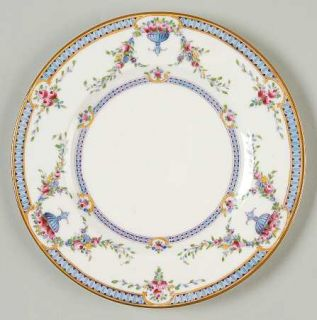 Royal Worcester Rosemary Sky Blue/White Bread & Butter Plate, Fine China Dinnerw