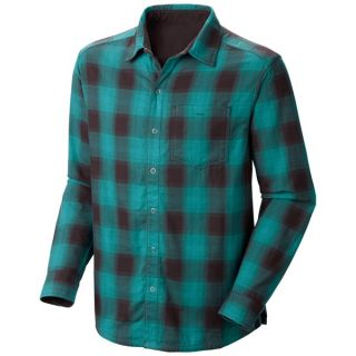 Mountain Hardwear Reeverse Grid Shirt   Long Sleeve (For Men)   CINDER (XL )