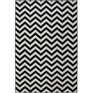 Mohawk Home Herringbone Indoor/Outdoor Rectangular Rugs, Black