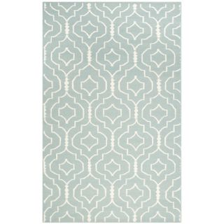 Safavieh Dhurries Light Blue/Ivory Rug DHU637C Rug Size 5 x 8