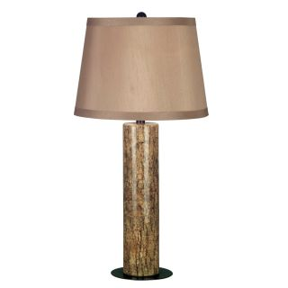 Sofia 15 inch Long With Marble Finish And Copper Bronze Accents Table Lamp